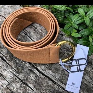 B-Low the Belt Camel Brown & Gold Belt
